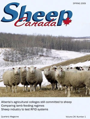 "Cover of ""Sheep Canada"" magazine"