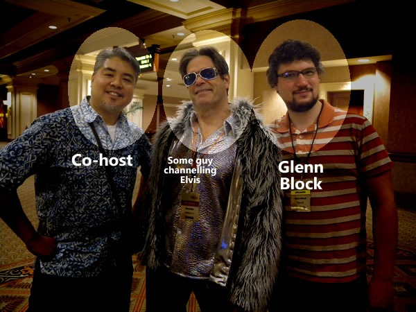 Joey deVilla, Ward Bell dressed up as Elvis, Glenn Block