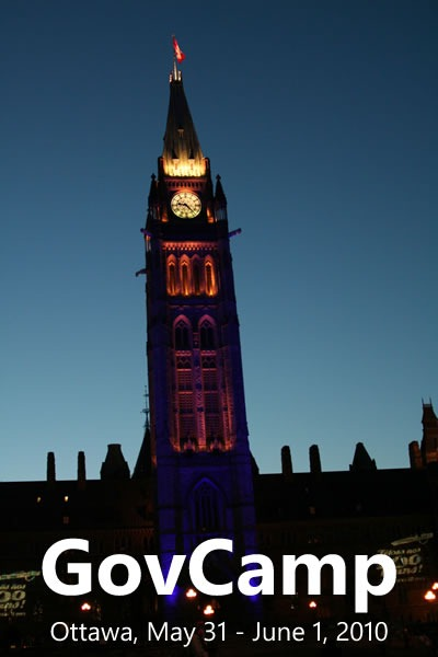 "Photo of the Peace Tower in Ottawa: ""GovCamp: Ottawa, May 31 - June 1, 2010"""