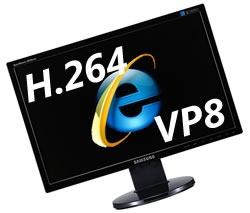 ie h.264 vp8