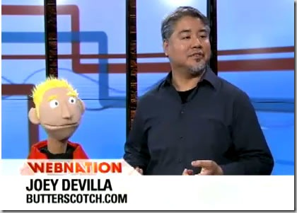 "Joey deVilla and ""Junior"" from ""Developer Junior"" on Webnation"
