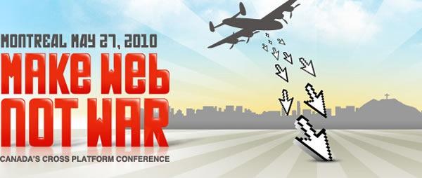 make web not war banner