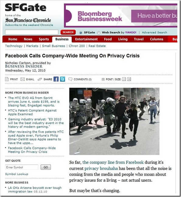 sfgate facebook privacy article
