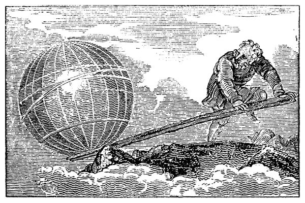 Archimedes moving the world with his lever