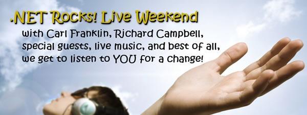 dot net rocks live weekend