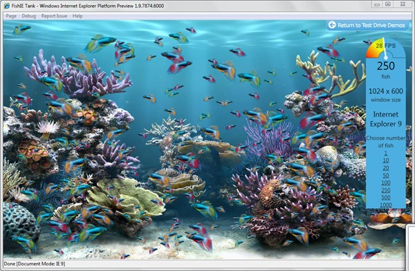 fishIE tanks screen shot