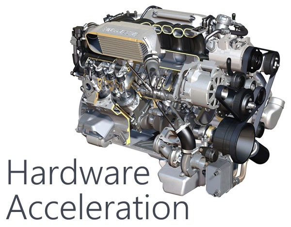 "V8 engine: ""Hardware acceleration"""