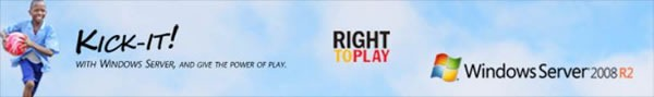 Kick-It / Right to Play / Windows Server 2008 R2
