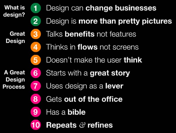 10 things about design