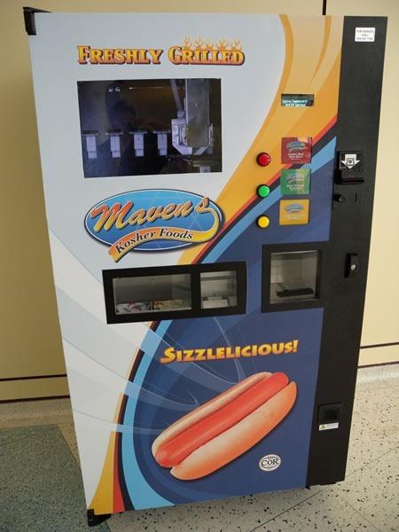 Hot dog vending machine