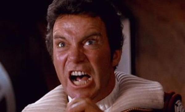 """Captain Kirk yelling """"Khaaaaaaan!"""""""