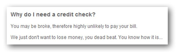 why do i need a credit check