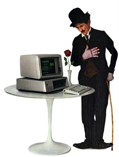 Charlie Chaplin and the original IBM PC