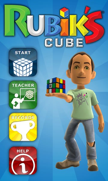 "Hoem screen for Magmic's ""Rubik's Cube"" game"