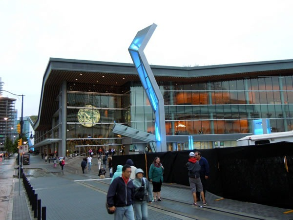 Exterior of the Vancouver Convention Centre's West Building, as seen from halfway the East and West Buildings
