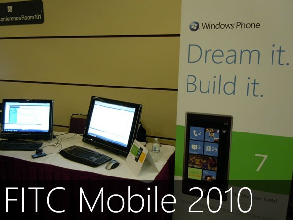 FITC Mobile 2010: The Windows Phone 7 booth