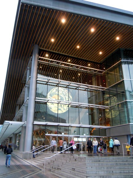 Entrance to the Vancouver Convention Centre's West Building