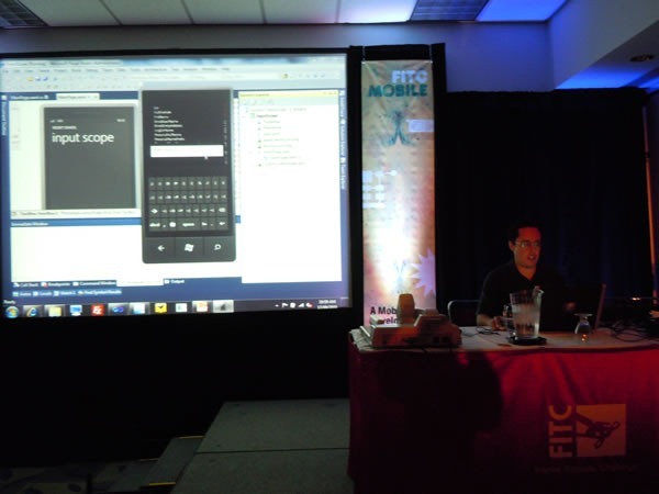 View of Mark Arteaga's presentation from the front of the room