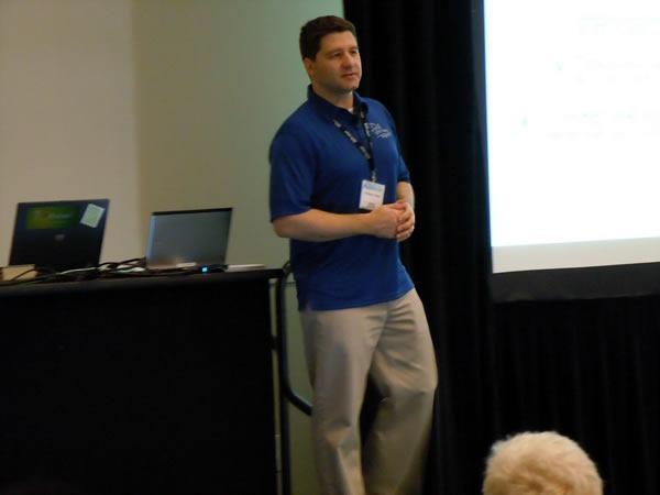 Anthony Vranic makes a presentation