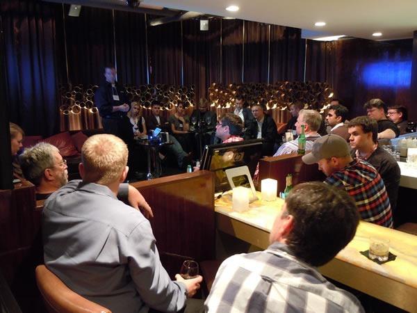 John Bristowe's presentation, as seen from the bar