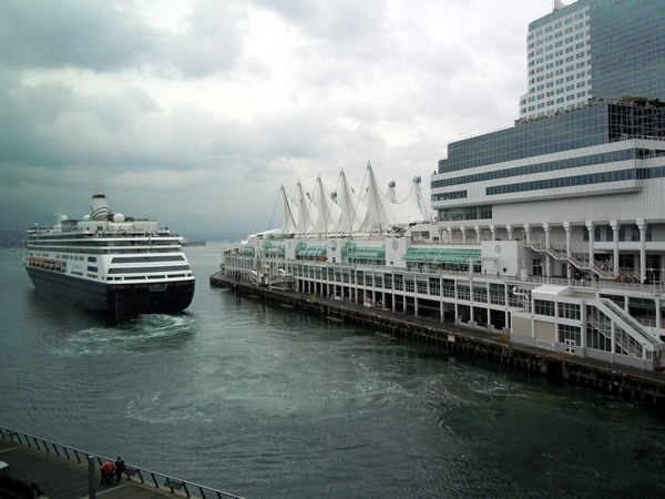 Holland America liner, setting out for sea