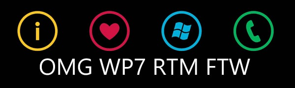 I [heart] Windows Phone logo: OMG WP7 RTM FTW
