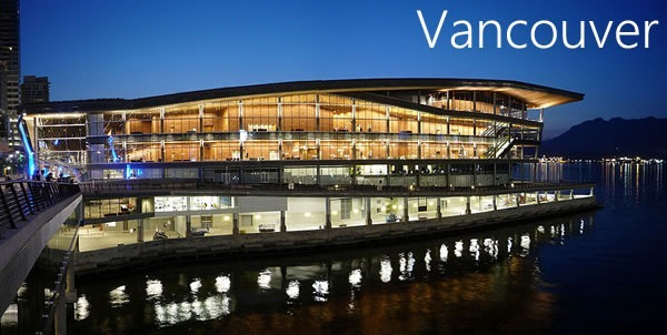 Vancouver Convention Centre (West Building) at night