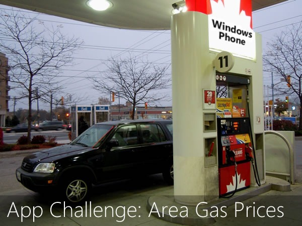 app challenge - area gas prices