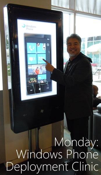 monday - windows phone deployment clinic
