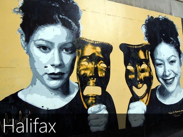 Theatre mural in Halifax