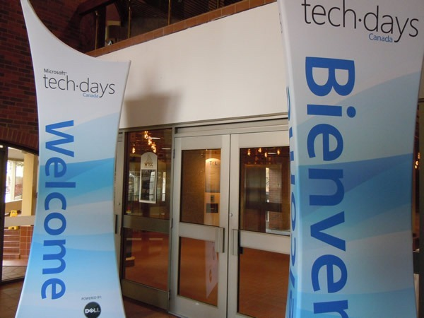 Entrance to TechDays Halifax