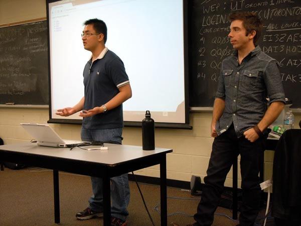 """Person Finder"" developers making their presentation"