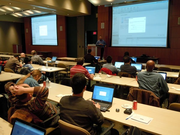 Cory taking the AzureFest attendees through one more example