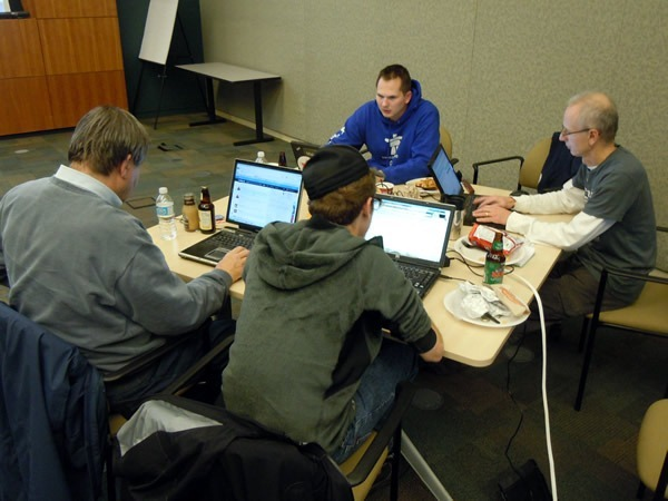 Nik Garkusha and three other developers, working on their open data solution