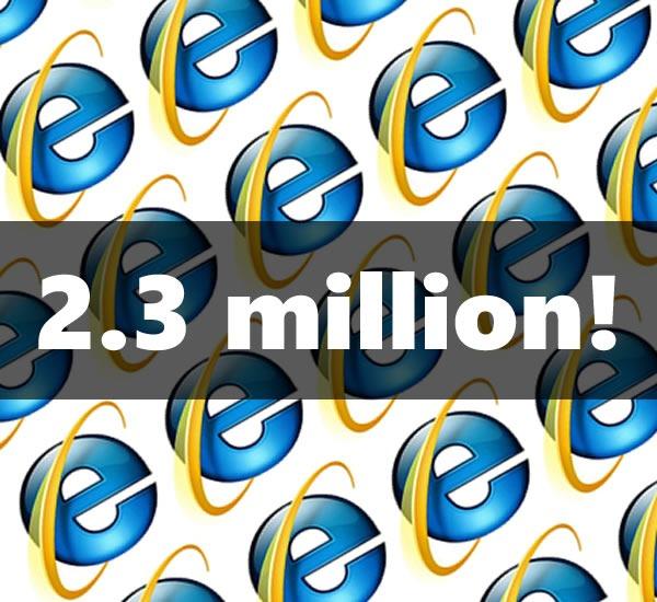 2.3 million