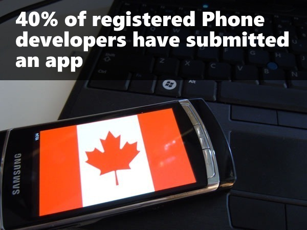 40 percent devs submitted