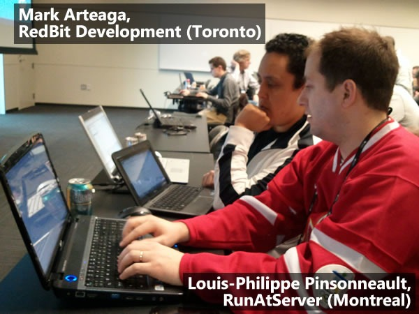 Mark Arteaga and Louis-Philippe Pinsonneault sitting at a session at the MVP Summit