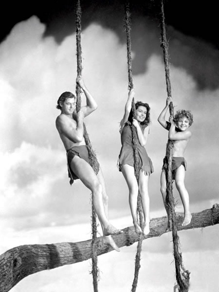 "Tarzan, Jane and ""Boy"" from the old Johnny Weismuller ""Tarzan"" movies"