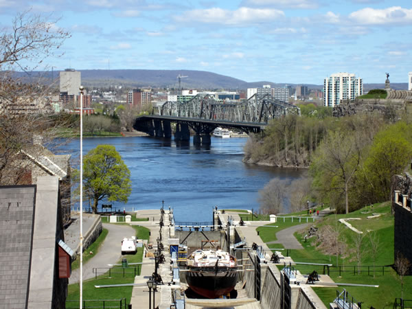 The Rideau Canal, close up
