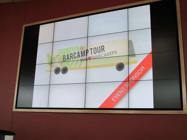 06 barcamp tour on big screen