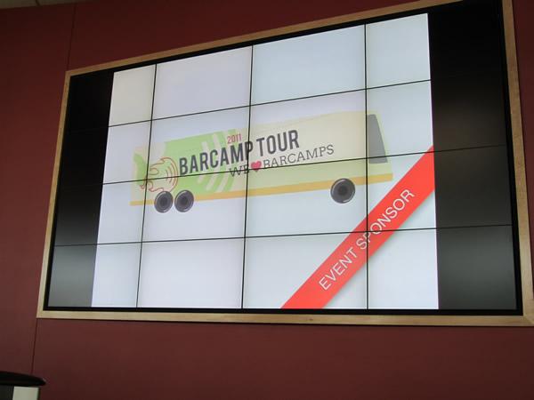 06 barcamp tour on big screen