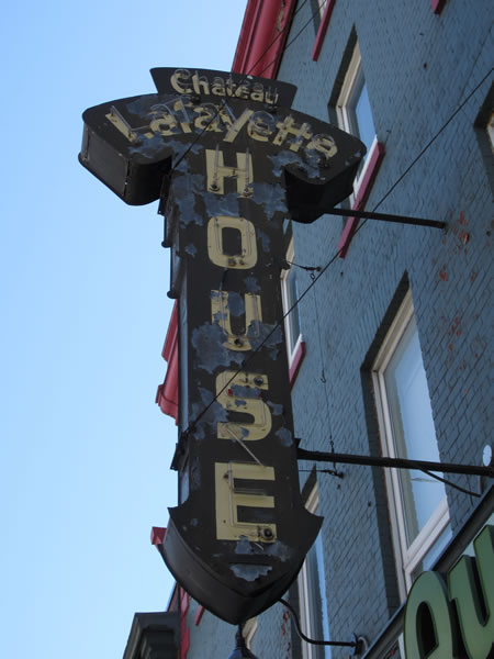 Sign of the Chateau Lafayette House tavern