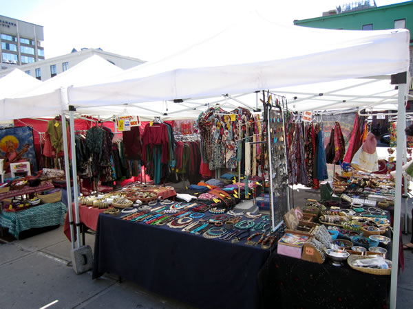 ByWard Market stall selling clothes and jewellery