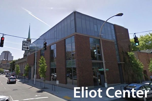 Eliot Center, as seen from the street