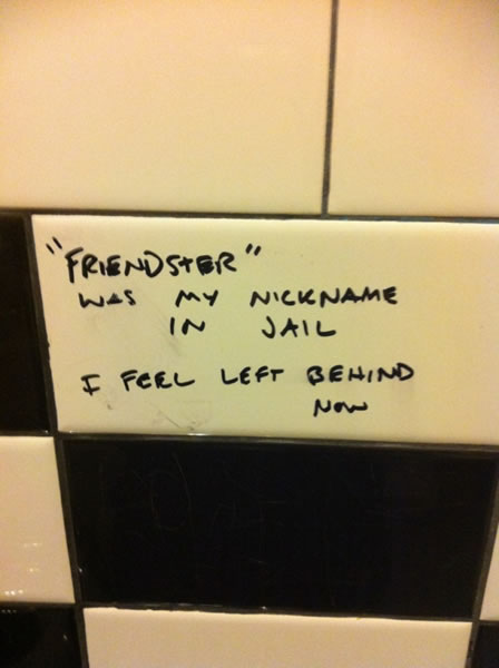 Bathroom graffito:
