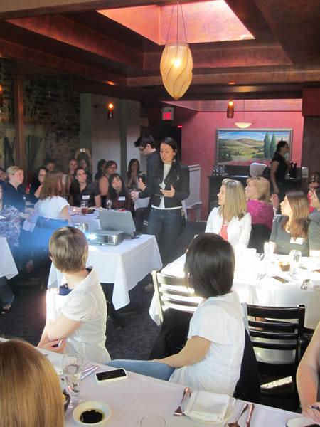 Hanna Abaza makes her presentation