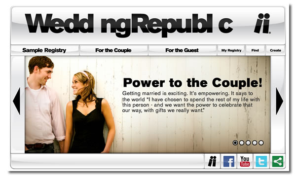 Screenshot of Wedding Republic site