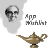 App Wishlist: Edward Ocampo-Gooding appearing as a genie from a lamp.