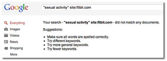 Googling fitbit sexual activity