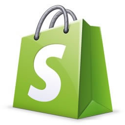 Shopify shopping bag logo